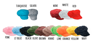 Picture of 16 different colors of women's stylish chemo hats