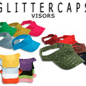 Picture of 17 different colors of women's sun visor hats
